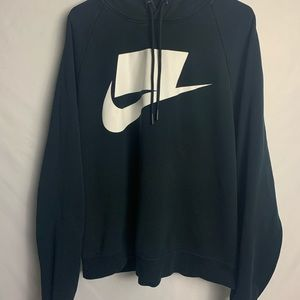 Nike NSW French Terry Men's Hoodie Black White